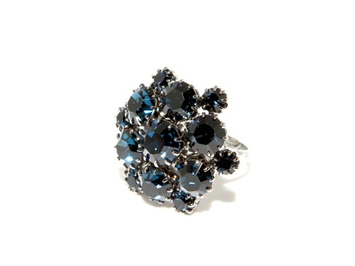 Exclusive ring made from Swarovski rhinestones