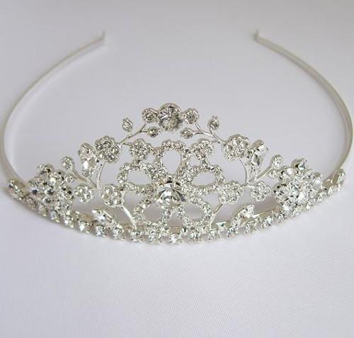 wedding tiara, silver