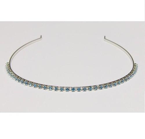 simple tiara, aqua / silver