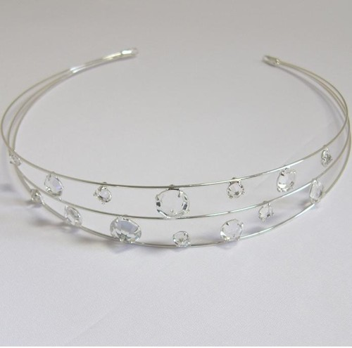 wedding tiara crystal / silver