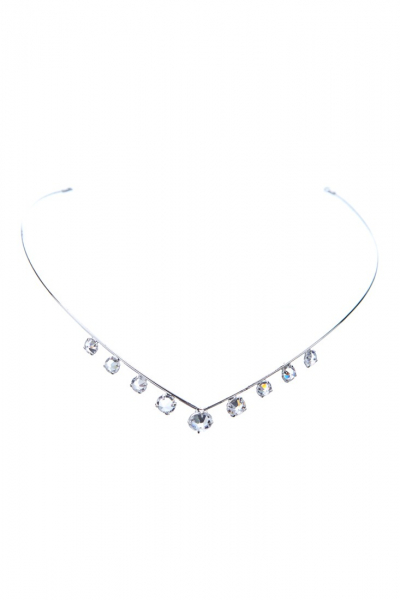 simple tiara, crystal / silver
