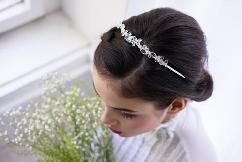Svatební šanelová čelenka