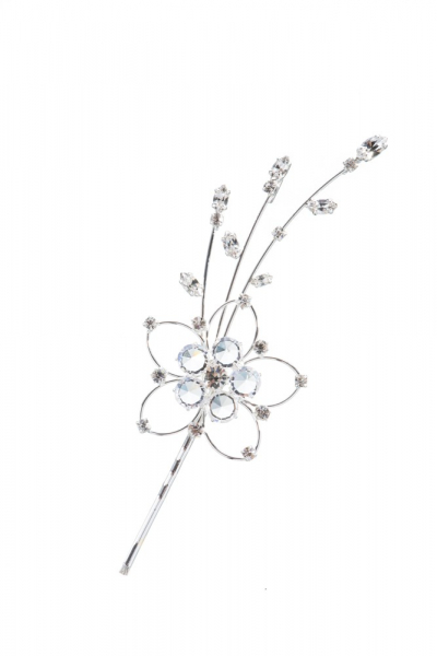 exclusive hair accessory, crystal / silver