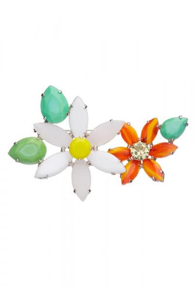 Květinová brož
