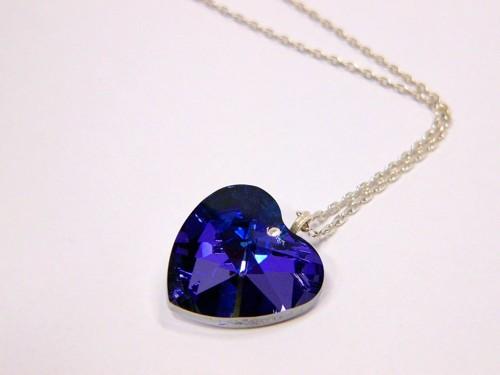 Crystal heart on chain