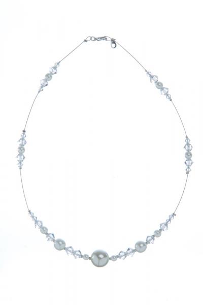 Perlovo-sluníčkový náhrdelník