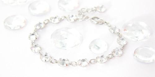 Elegantní náramek, Swarovski, rhodium / krystal