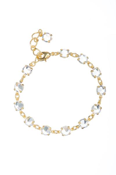 Elegant crystal bracelet, gold