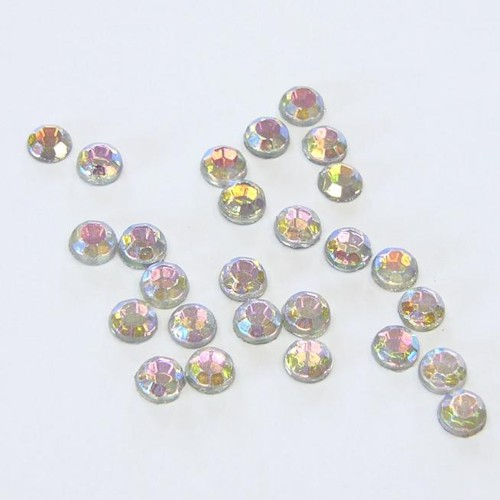 hotfix extra roses - iron on, 144pcs,  2 mm, crystal AB