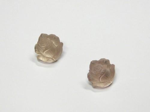 Náušnice ze skleněných knoflíků