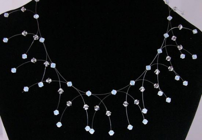 wedding necklace made from sun beads