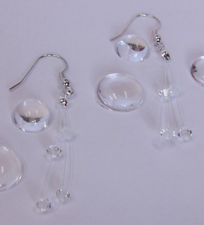 wedding earrings made from sun beads