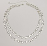 svatební náhrdelník z průhledných šatonů - šanelů