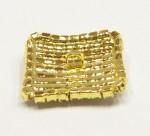 štrasový knoflík, galvanizace: zlato