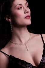 """""""čistý"""" design čirého křišťálu, náhrdelník:76010851"""