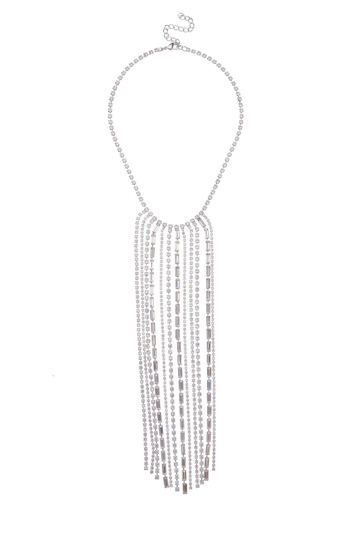 Výrazný štrasový náhrdelník