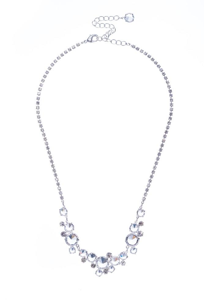 Šanelový náhrdelník na štrasovém řetízku