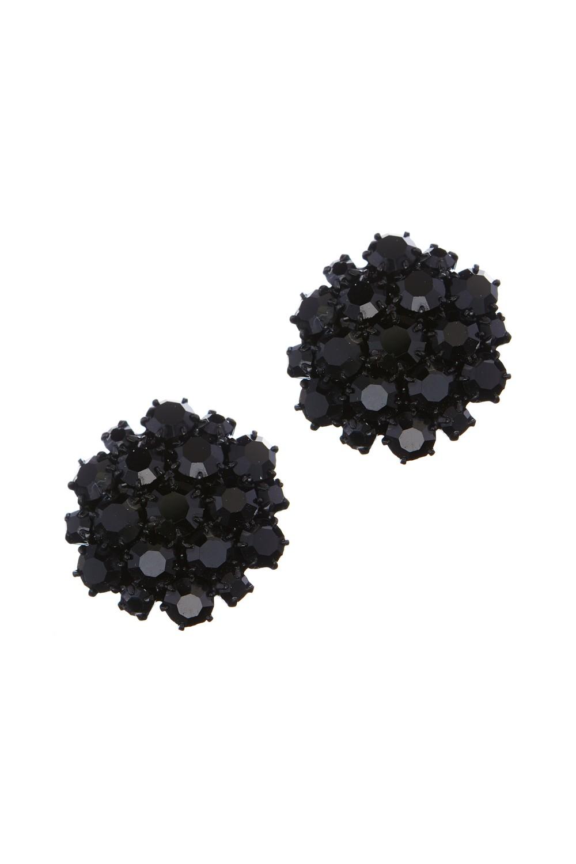 Krásné náušnice z českých broušených kamenů v černé barvě