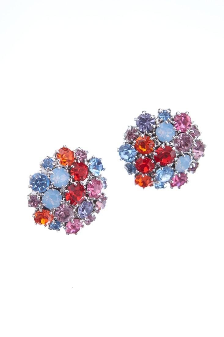 Krásné náušnice z českých broušených kamenů v jarních barvách