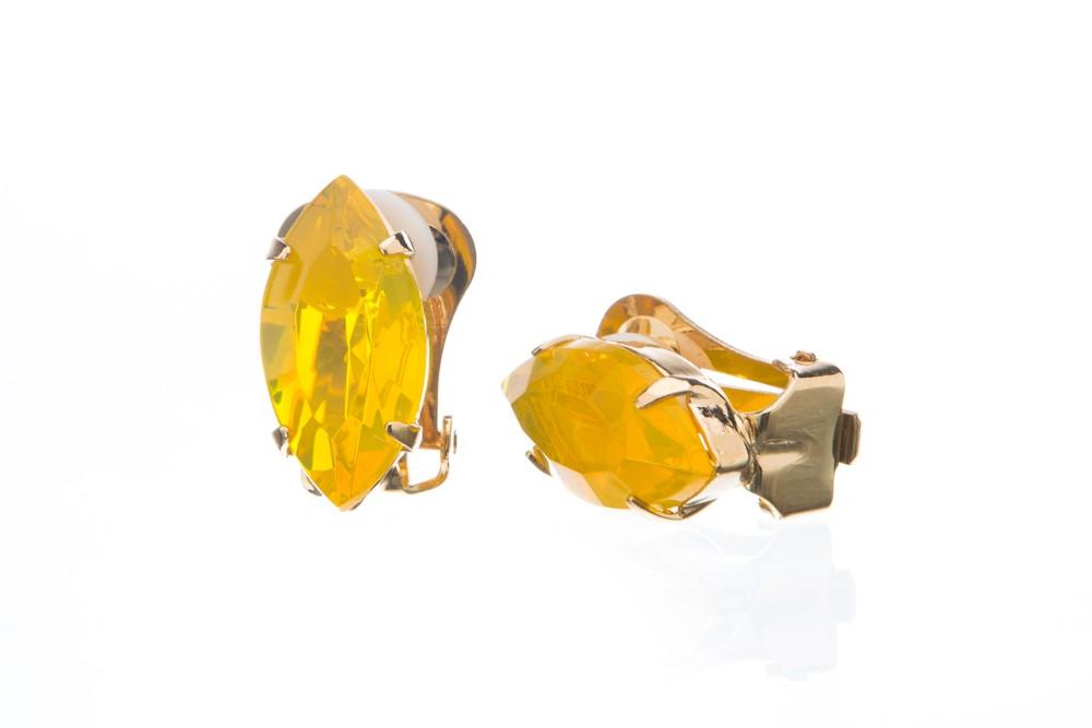 Náušnice se speciálním kamenem, jonguille