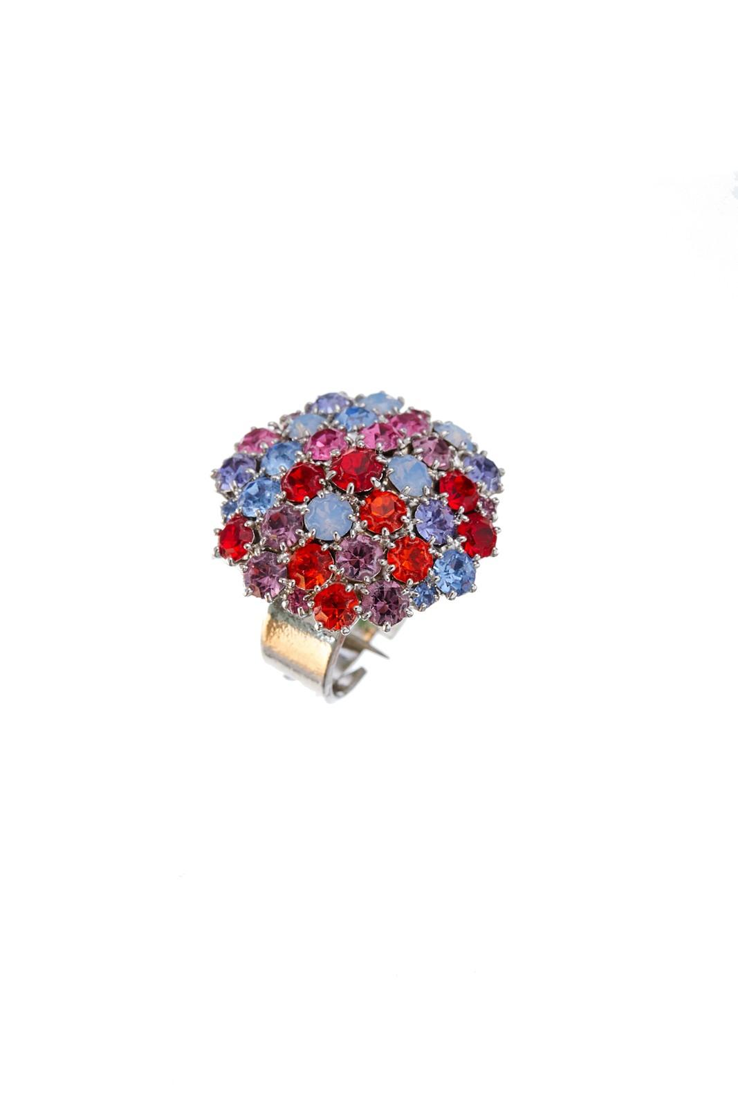 Krásný prstýnek z českých broušených kamenů v jarních barvách